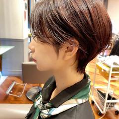 ハイライト 小顔 ショート インナーカラー ヘアスタイルや髪型の写真・画像