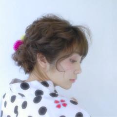 お祭り 花火大会 ヘアアレンジ アップスタイル ヘアスタイルや髪型の写真・画像