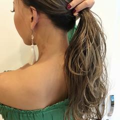 バレイヤージュ ロング ストリート 外国人風カラー ヘアスタイルや髪型の写真・画像