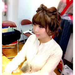 簡単ヘアアレンジ ヘアアレンジ 夏 ショート ヘアスタイルや髪型の写真・画像