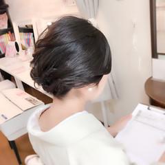 ミディアム エレガント 和装 上品 ヘアスタイルや髪型の写真・画像