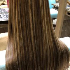ナチュラル ハイトーン グラデーションカラー ロング ヘアスタイルや髪型の写真・画像