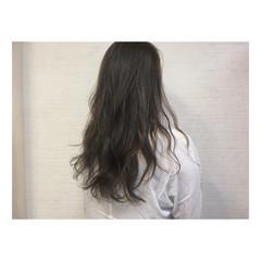 ブルージュ 暗髪 かき上げ前髪 前髪あり ヘアスタイルや髪型の写真・画像