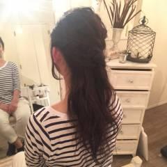 ナチュラル ヘアアレンジ ロング ヘアスタイルや髪型の写真・画像