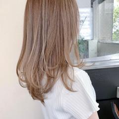 ナチュラル ロング レイヤーロングヘア 透明感カラー ヘアスタイルや髪型の写真・画像