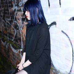 ボブ モード ブルー ストリート ヘアスタイルや髪型の写真・画像