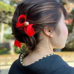 モード セミロング ヘアスタイルや髪型の写真・画像