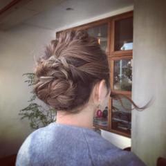 結婚式 ナチュラル ヘアアレンジ 謝恩会 ヘアスタイルや髪型の写真・画像
