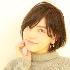 ガーリー 色気 ショート 小顔 ヘアスタイルや髪型の写真・画像