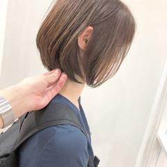 切りっぱなしボブ ショート ショートバング ショートボブ ヘアスタイルや髪型の写真・画像