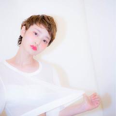 モード ショート 外国人風 ベリーショート ヘアスタイルや髪型の写真・画像
