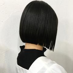 黒髪ショート 切りっぱなしボブ ボブ ミニボブ ヘアスタイルや髪型の写真・画像