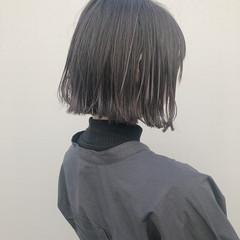 ガーリー 切りっぱなしボブ ショートボブ ボブ ヘアスタイルや髪型の写真・画像