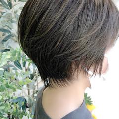ショート ショートボブ 髪質改善トリートメント イルミナカラー ヘアスタイルや髪型の写真・画像