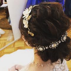 ロング 大人かわいい 結婚式 リラックス ヘアスタイルや髪型の写真・画像