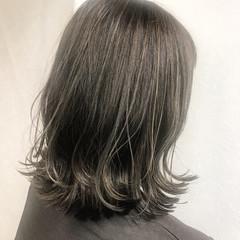 外国人風カラー ミディアム 外国人風 アッシュグレージュ ヘアスタイルや髪型の写真・画像