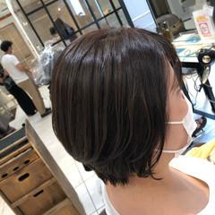 ナチュラルデジパ ワンカールパーマ ゆるふわパーマ ショート ヘアスタイルや髪型の写真・画像