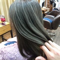 グラデーションカラー ロング フェミニン ハイライト ヘアスタイルや髪型の写真・画像