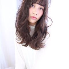 ガーリー ゆるふわ セミロング フェミニン ヘアスタイルや髪型の写真・画像