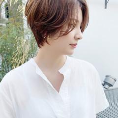 ショートボブ ショートヘア ひし形シルエット ショート ヘアスタイルや髪型の写真・画像