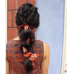ロング アップスタイル ガーリー ルーズ ヘアスタイルや髪型の写真・画像