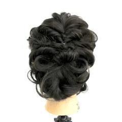 ヘアアレンジ アップスタイル パーティ 黒髪 ヘアスタイルや髪型の写真・画像