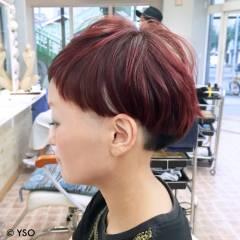 マッシュ モード ショート 刈り上げ ヘアスタイルや髪型の写真・画像