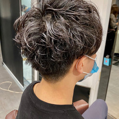 メンズカット スパイラルパーマ メンズ メンズパーマ ヘアスタイルや髪型の写真・画像