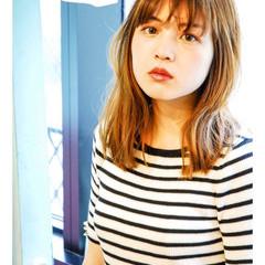 艶髪 イルミナカラー 外国人風カラー ミディアム ヘアスタイルや髪型の写真・画像