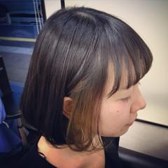 ボブ グラデーションカラー ダブルカラー インナーカラー ヘアスタイルや髪型の写真・画像