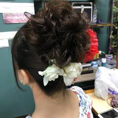 アウトドア 成人式 ストリート セミロング ヘアスタイルや髪型の写真・画像