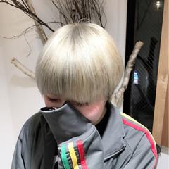 ストリート ホワイト ショート ブリーチ ヘアスタイルや髪型の写真・画像