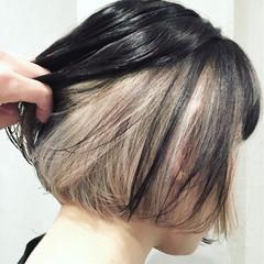 ストリート インナーカラー 外国人風 ボブ ヘアスタイルや髪型の写真・画像