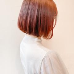 ミニボブ ピンクベージュ ボブ ショートヘア ヘアスタイルや髪型の写真・画像