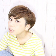 春 坊主 夏 小顔 ヘアスタイルや髪型の写真・画像
