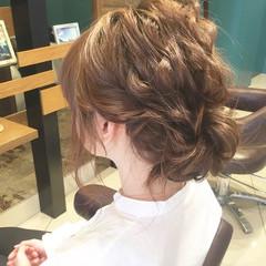 波ウェーブ 結婚式 ナチュラル ヘアアレンジ ヘアスタイルや髪型の写真・画像