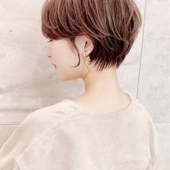 ひし形シルエット ショートヘア ハンサムショート ナチュラル ヘアスタイルや髪型の写真・画像