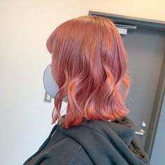ボブ 切りっぱなしボブ 韓国ヘア ガーリー ヘアスタイルや髪型の写真・画像