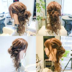 ヘアアレンジ ロング まとめ髪 デート ヘアスタイルや髪型の写真・画像