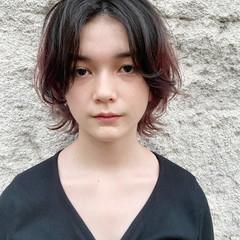 レイヤースタイル ミディアム 大人ハイライト ナチュラル ヘアスタイルや髪型の写真・画像