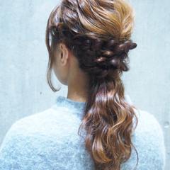 簡単ヘアアレンジ コンサバ 大人かわいい 外国人風 ヘアスタイルや髪型の写真・画像