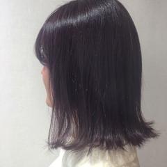 ラベンダーアッシュ ガーリー ロブ イルミナカラー ヘアスタイルや髪型の写真・画像