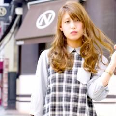 外国人風カラー 大人かわいい ロング 外国人風 ヘアスタイルや髪型の写真・画像
