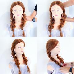 ヘアアレンジ 色気 アウトドア フェミニン ヘアスタイルや髪型の写真・画像