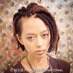 モード ストレート 三つ編み ロング ヘアスタイルや髪型の写真・画像