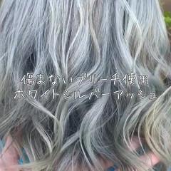 外国人風 ブリーチ 外国人風カラー ミディアム ヘアスタイルや髪型の写真・画像