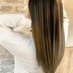 コントラストハイライト セミロング ブリーチ 外国人風 ヘアスタイルや髪型の写真・画像