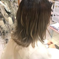 モード ミディアム 簡単ヘアアレンジ ヘアスタイルや髪型の写真・画像