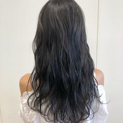 透明感 フェミニン ロング ブリーチなし ヘアスタイルや髪型の写真・画像