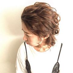 ボブ ヘアアレンジ グラデーションカラー フェミニン ヘアスタイルや髪型の写真・画像